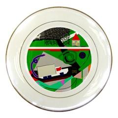 Trip Porcelain Plates