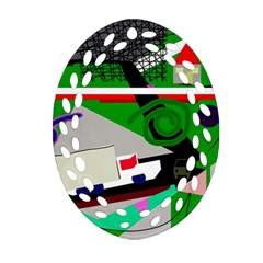 Trip Oval Filigree Ornament (2-Side)