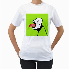Protrusion  Women s T-Shirt (White) (Two Sided)