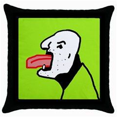 Protrusion  Throw Pillow Case (Black)