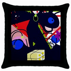 Gift Throw Pillow Case (Black)