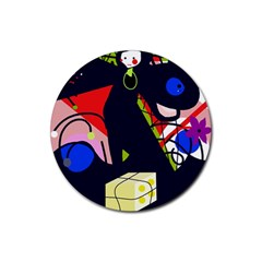 Gift Rubber Round Coaster (4 pack)