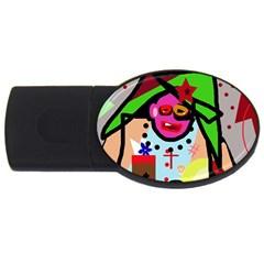 Quarreling USB Flash Drive Oval (4 GB)