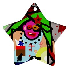 Quarreling Star Ornament (Two Sides)