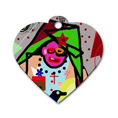 Quarreling Dog Tag Heart (Two Sides)