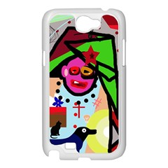 Quarreling Samsung Galaxy Note 2 Case (White)