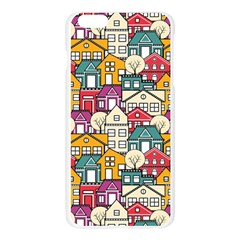 City Pattern  The Structural Pattern Of The Urban Subject Of Repeated Homes Apple Seamless iPhone 6 Plus/6S Plus Case (Transparent)