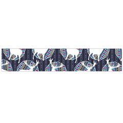 Geometric Deer Retro Pattern Flano Scarf (large)