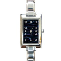 Blue moonlight Rectangle Italian Charm Watch