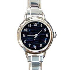 Blue moonlight Round Italian Charm Watch