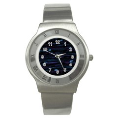 Blue moonlight Stainless Steel Watch