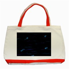 Blue moonlight Classic Tote Bag (Red)