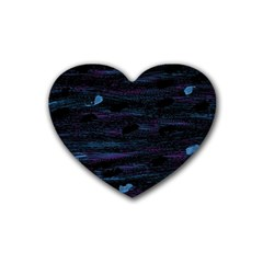 Blue moonlight Heart Coaster (4 pack)