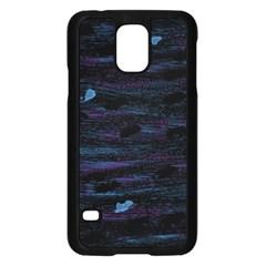 Blue moonlight Samsung Galaxy S5 Case (Black)