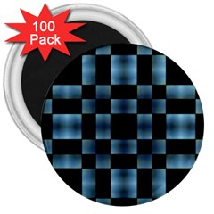 Checkboard Pattern Print 3  Magnets (100 pack)