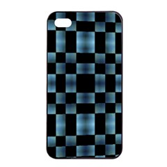 Checkboard Pattern Print Apple iPhone 4/4s Seamless Case (Black)