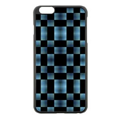 Checkboard Pattern Print Apple iPhone 6 Plus/6S Plus Black Enamel Case