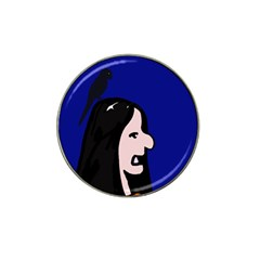 Girl and bird Hat Clip Ball Marker (10 pack)