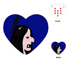 Girl and bird Playing Cards (Heart)