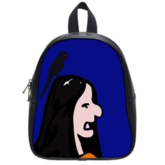 Girl and bird School Bags (Small)