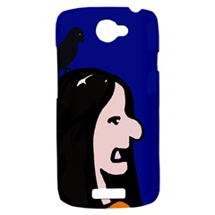 Girl and bird HTC One S Hardshell Case