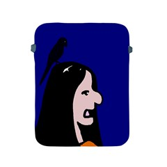 Girl and bird Apple iPad 2/3/4 Protective Soft Cases