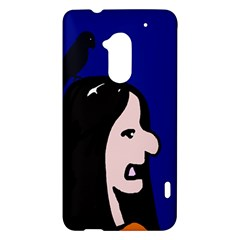 Girl and bird HTC One Max (T6) Hardshell Case