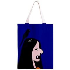 Girl and bird Classic Light Tote Bag