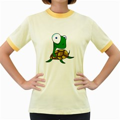 Turtle Women s Fitted Ringer T-Shirts
