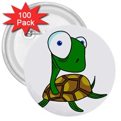 Turtle 3  Buttons (100 pack)