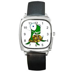 Turtle Square Metal Watch