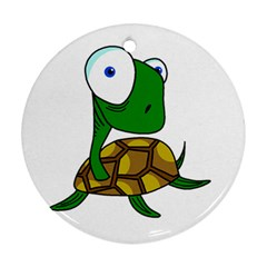 Turtle Round Ornament (Two Sides)