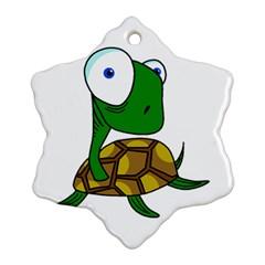 Turtle Snowflake Ornament (2-Side)