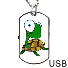 Turtle Dog Tag USB Flash (One Side)