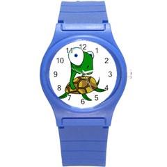 Turtle Round Plastic Sport Watch (S)
