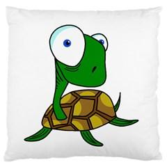 Turtle Large Flano Cushion Case (One Side)