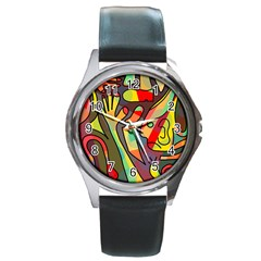 Colorful dream Round Metal Watch