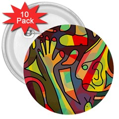 Colorful dream 3  Buttons (10 pack)