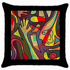 Colorful dream Throw Pillow Case (Black)