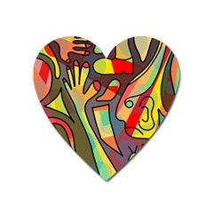Colorful dream Heart Magnet