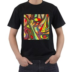 Colorful dream Men s T-Shirt (Black) (Two Sided)