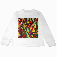Colorful dream Kids Long Sleeve T-Shirts