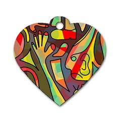 Colorful dream Dog Tag Heart (One Side)