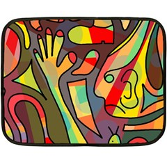 Colorful dream Double Sided Fleece Blanket (Mini)