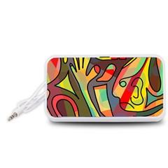 Colorful dream Portable Speaker (White)