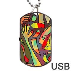 Colorful dream Dog Tag USB Flash (Two Sides)