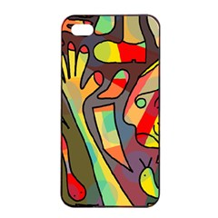 Colorful dream Apple iPhone 4/4s Seamless Case (Black)