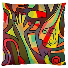 Colorful dream Large Cushion Case (Two Sides)