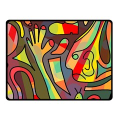 Colorful dream Double Sided Fleece Blanket (Small)