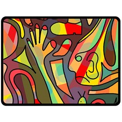 Colorful dream Double Sided Fleece Blanket (Large)